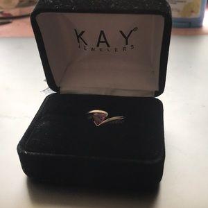 Beautiful Kay Jewelers pink heart ring